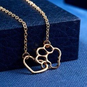 """❤️NEW Pet Lover Gold or Silver Tone Necklace 18"""""""